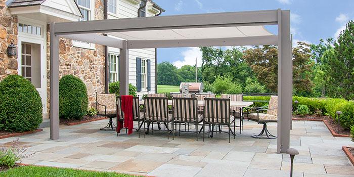 aluminum pergolas wtih canopy brown jordan structures. Black Bedroom Furniture Sets. Home Design Ideas